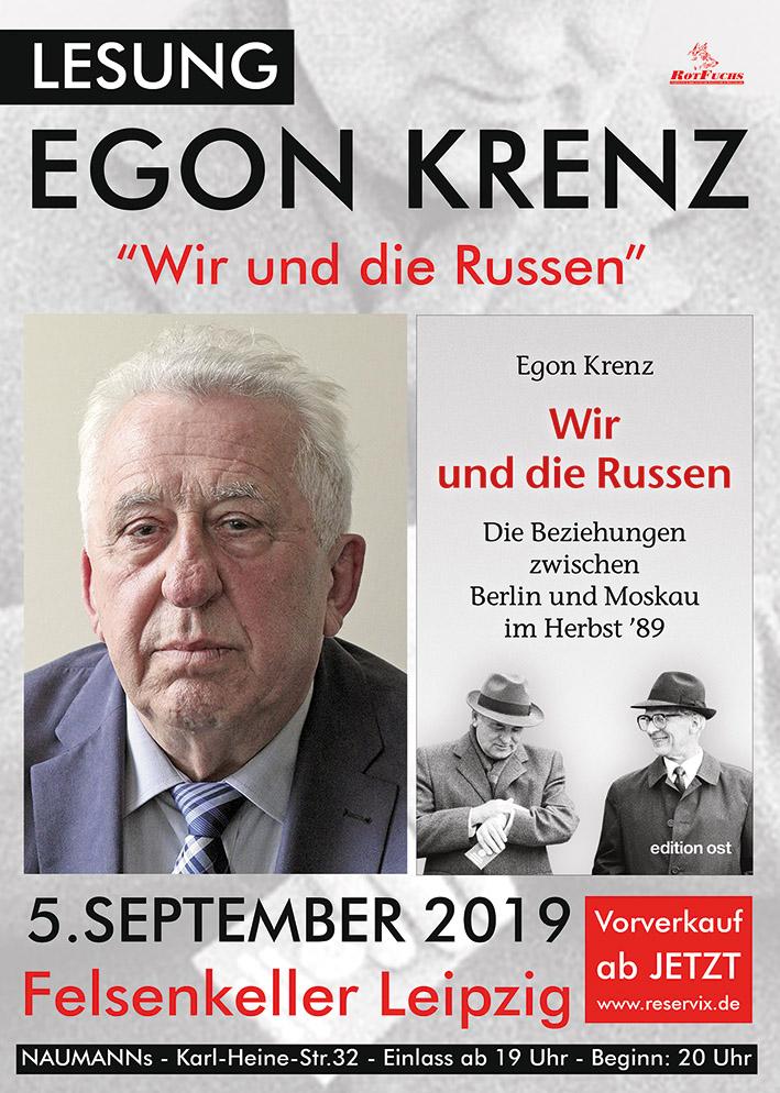 Wir und die Russen | Lesung mit Egon Krenz