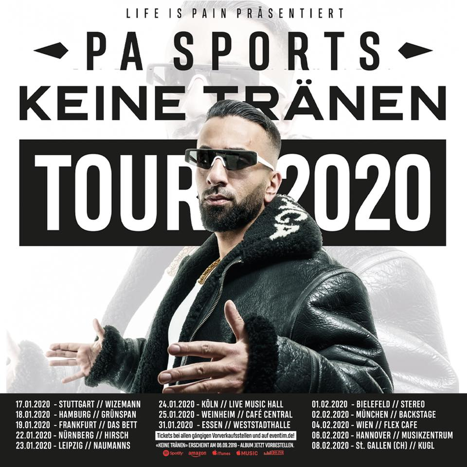 PA Sports //Keine Tränen Tour 2020