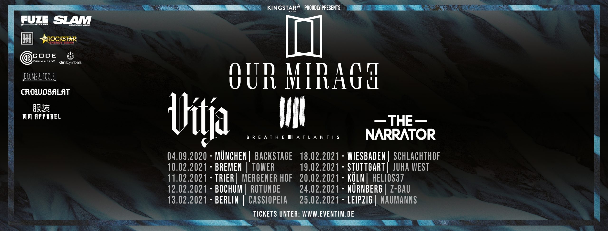 [VERSCHOBEN] Our Mirage, Vitja, Breathe Atlantis