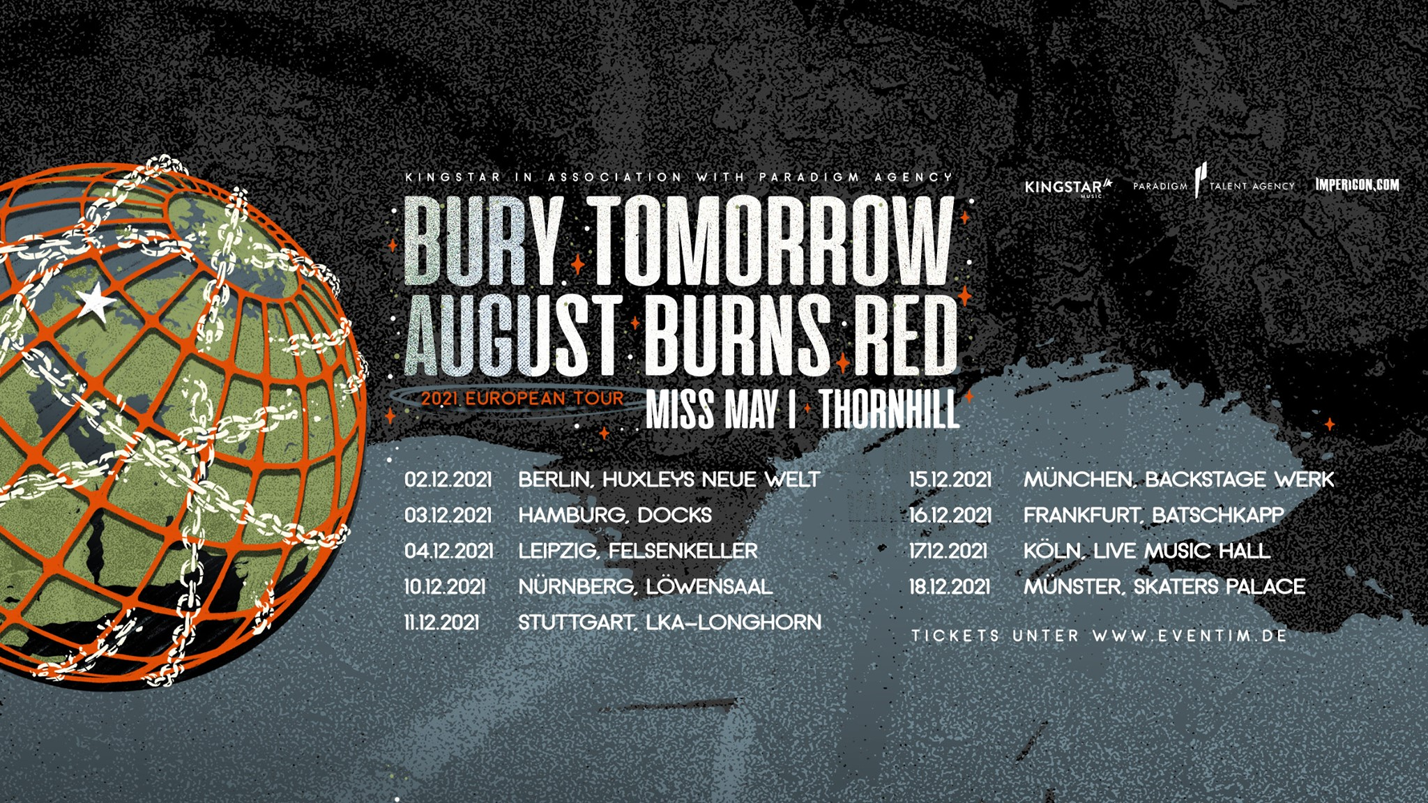 Bury Tomorrow | August Burns Red | Miss May I | Thornhill