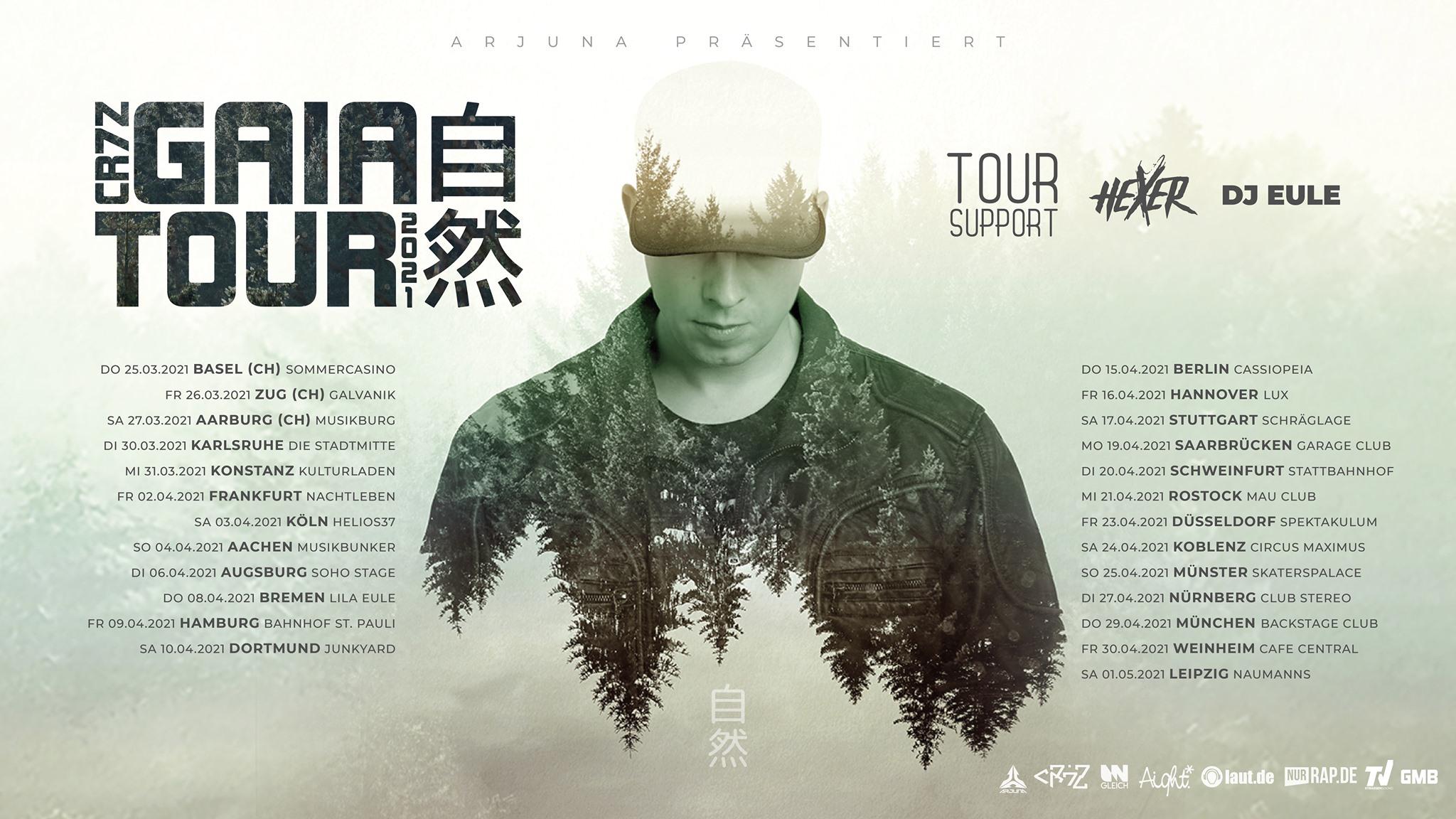Cr7z • Gaia Tour 2021