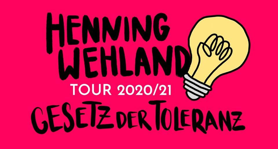 (Abgesagt) Henning Wehland • Gesetz der Toleranz Tour 2021