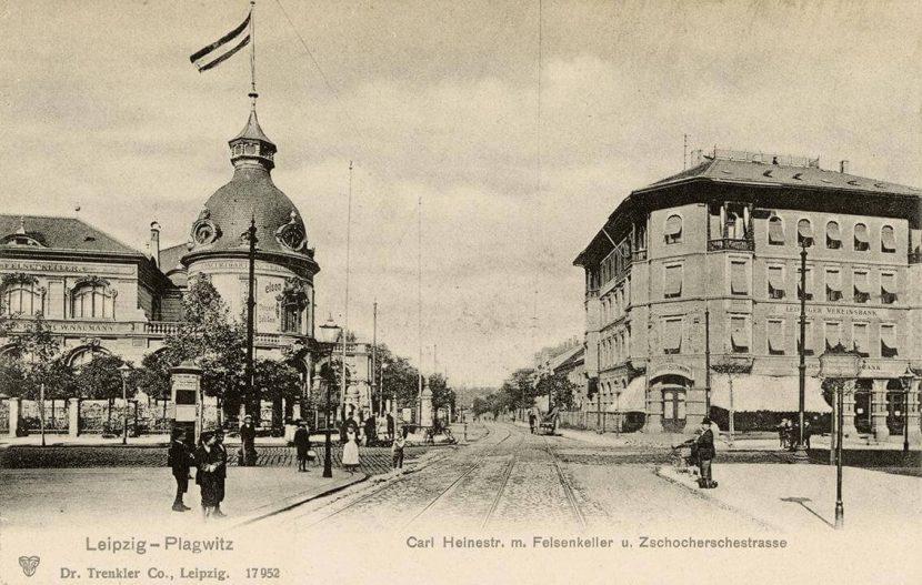 Der Felsenkeller in Leipzig im Jahr 1900