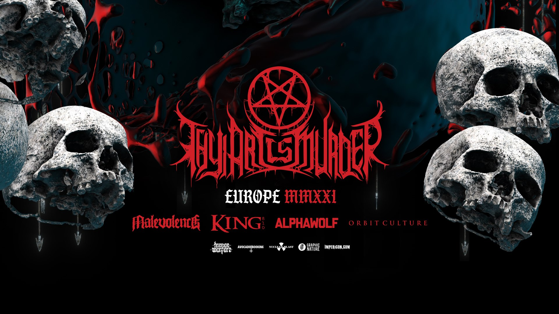 THY ART IS MURDER · EU/UK TOUR 2021
