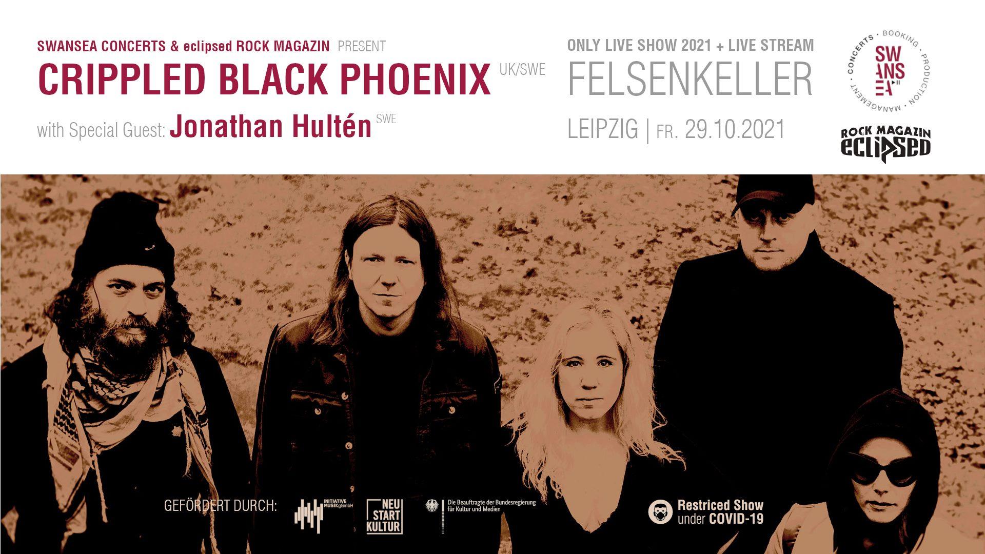 CRIPPLED BLACK PHOENIX w/ Special Guest: Jonathan Hultén