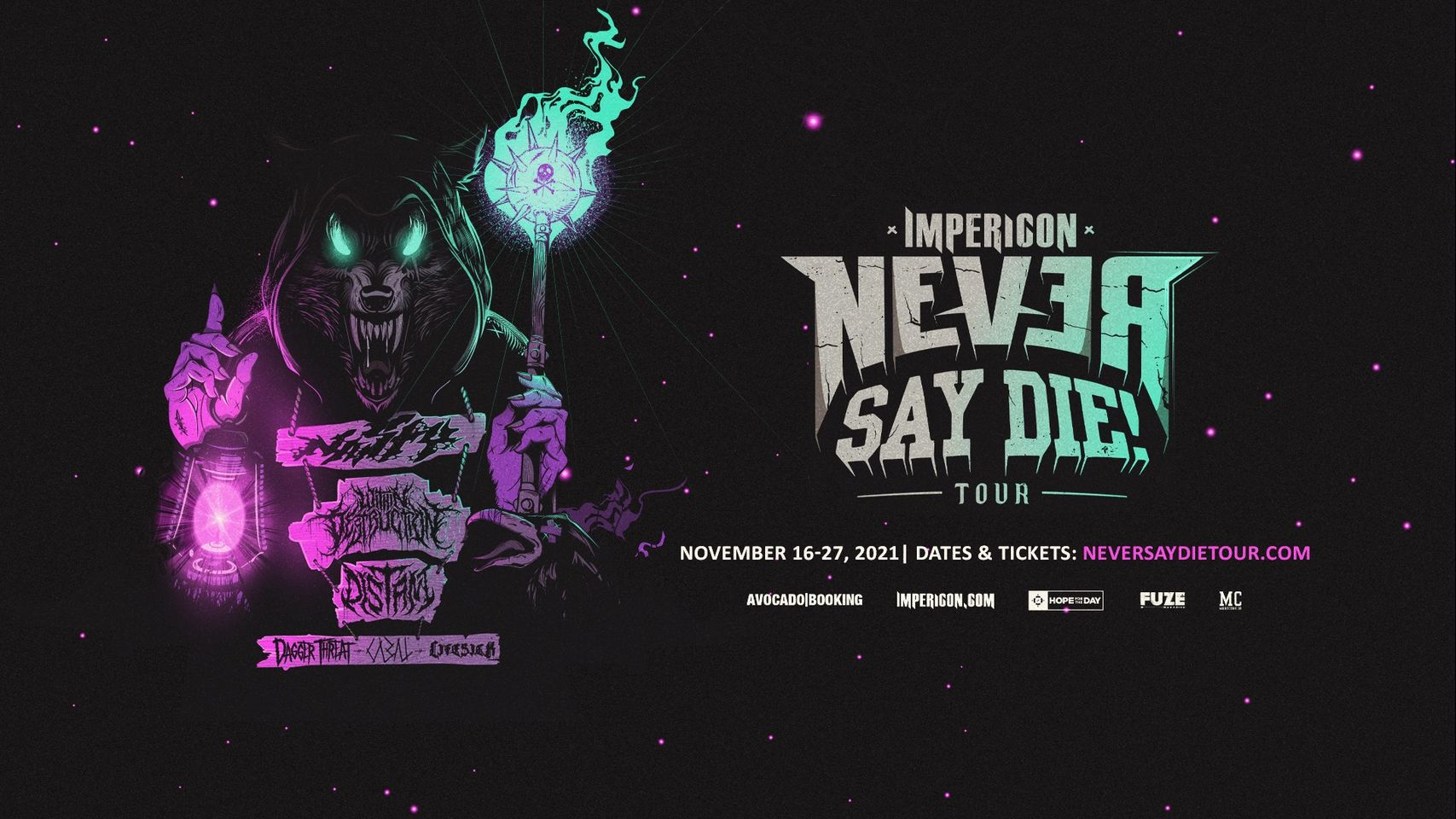 Impericon Never Say Die! Tour 2021 // 2G